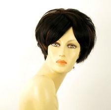 wig for women 100% natural hair black and copper intense ref AMANDINE 1b30 PERUK