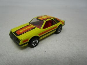 Vintage 1979 Hot Wheels BLACKWALL ERA *TURBO MUSTANG* (YELLOW) 1:64 (Case R)