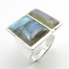 Online Jewelry Store Natural LABRADORITE Gemstone 0.925 Solid Silver Ring Size 7