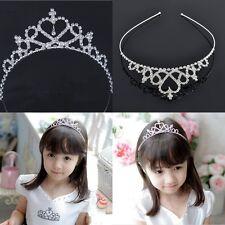 Fashion Rhinestone Crystal Tiara Hair Band Kid Girl Princess Prom Crown Headband