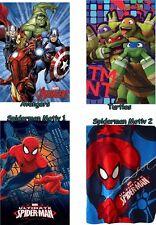 Fleecedecke Avengers Turtles Spiderman Kuscheldecke Decke Tagesdecke Hulk Fleece