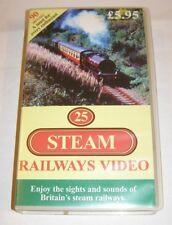 25 Steam Railways - Video PAL VHS 90 Minutes
