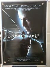 Unbreakable Bruce Willis Double Sided Original Rolled 27x40 Movie Poster 2000