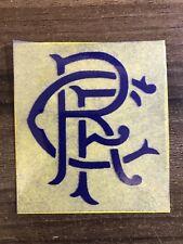 Glasgow Rangers Blue Felt Iron On Badge