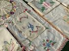 Lot+26+Vintage+Embroidered+Linens+Pillowcases+Pansy+BUTTERFLY+Doilies+Bluebird+