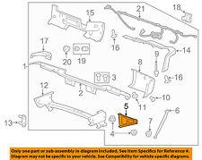 GM OEM Rear Bumper-Bumper Brace Left 20899963