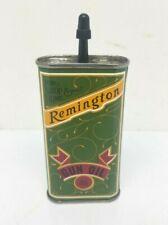 Vintage Remington 3 oz. Metal Gun Oil Handy Oiler Full Can ESTATE FIND