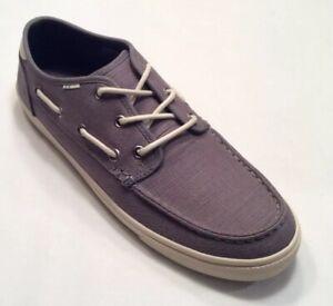 Toms Men's Dorado Heritage Gray Canvas Boat Shoes Size 11