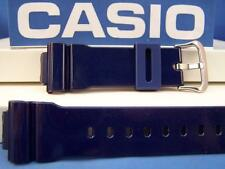 "Casio Watch Band DW-6900 CC-2 Shiny ""Metallic"" blue Resin G-Shock Strap"