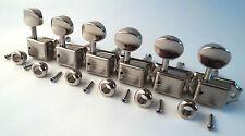 6 Vintage Nickel Split Shaft Tuners machine Têtes Strat Tele Fender Squier 8 mm