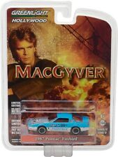 GREENLIGHT  MACGYVER  1987 PONTIAC FIREBIRD BLUE 1/64 DIECAST CAR 44770 D