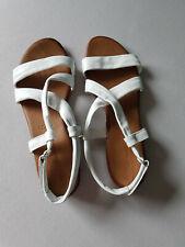 Tamaris-Sandalen 42, Echtleder weiß, Lederinnensohle, 1 x getragen
