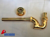 """Rubinetteria ORO Sifone a S per scarico lavabo/bidet 1"""" Gold Traditional Taps"""