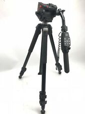 Manfrotto 3433 head with Bogen 3221WN 2 Stage Tripod W/ MANFROTTO LANC CONTROL