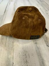 Ultra Rare Polo Ralph Lauren Full Leather Baseball Hat Brown RLL