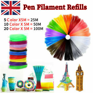 100M PLA 3D Pen Printer Filament Refills 1.75mm Printing Drawing Accessories UK