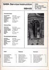 Service Manual-Anleitung Saba Stereo-Decoder E 1,US 1,14.1, 14 US,12.1,12 US