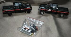 2 Sword Mammoet Ford F250 Crew Cab/Black 1/50 scale with Pair of Oversized Load