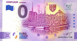 14 HONFLEUR Port 2, 2021, Anniversaire, Billet Euro Souvenir