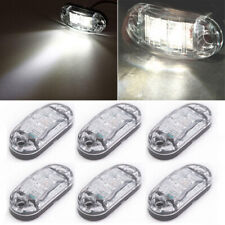 """6X 2.6"""" Clearance White Oval Led Lamp 2 Diode Trailer Truck Side Marker Light"""