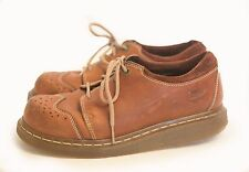 Mens Leather DR MARTEN Lace Up Shoes Brown MADE IN ENGLAND SZ 7 EUR 39