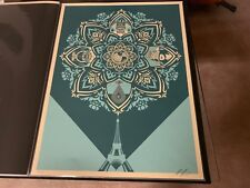 """Obey Giant """"Delicate Balance"""" 2015 Shepard Fairey Signed/Numbered Poster Print"""