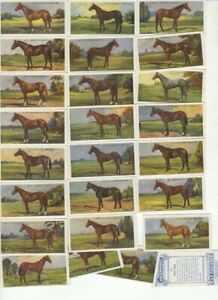 Faulkner Reproduction Cards. Prominent Racehorses (originally 1923)