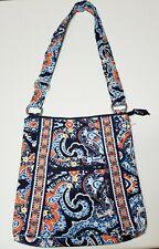 VERA BRADLEY Large Hipster Crossbody Bag Blue/Orange/Withe  Pre-owend.