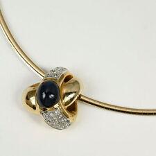 Echte Edelstein-Halsketten & -Anhänger aus Gelbgold mit Cabochon