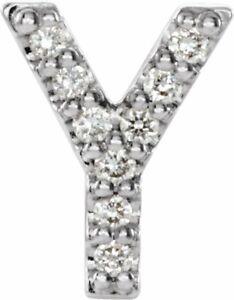 Diamond Single Initial Y Earring In Platinum 04 CTW)