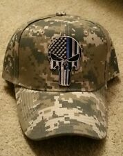 Punisher Thin Blue Line hat police USA flag SWAT