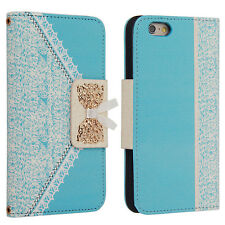 For Apple iPhone SE 5s 6s 6 Plus Flip Wallet Leather Case Cover Magnetic Luxury