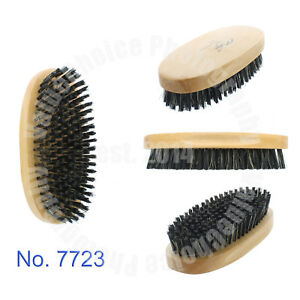 Men Boar Hair Bristle Beard Mustache Brush Palm Soft Round Wood Handle No. 7723