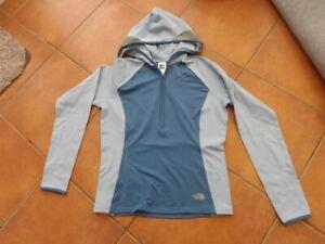 North Face vaporwick Running top jumper hoody blue M. lightweight gym loungewear