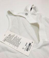Lululemon Ladies Swiftly Tech T-Back White       (US 4/UK 8)  RRP £48