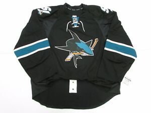 SAN JOSE SHARKS AUTHENTIC THIRD TEAM ISSUED REEBOK EDGE 2.0 7287 JERSEY SIZE 58+