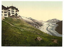 Aletsch Glacier And Belalp Hotel Valais Alps Of A4 Photo Print