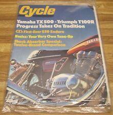 Vintage CYCLE Magazine July 1973 NOS Sealed TX500 T100 CZ250