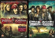 Pirates of the Caribbean Movies #3&4: At World's End & On Stranger Tides (Dvds)