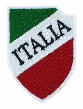 ITALIA BANDIERA TOPPA PATCH RICAMATA SCUDETTO CALCIO TOPPE PATCH STEMMA BORDADO