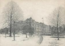 ROBERT STANDISH-SWEENEY Pencil Drawing THE STAFF COLLEGE CAMBERLEY c1980