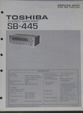 Toshiba SB-445 Amplificateur service repair workshop manual (original)