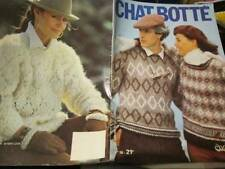 Chat Botte Knitting Book #18-English/German Text-39 Men & Women Designs All Show