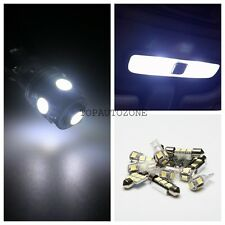 9 x Pure White Bulbs Led Light Interior Package Kit 1999-2004 For Chevy Tracker