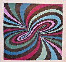 Susan Roberts Spiral Illusion Quilt Pattern Handpainted Needlepoint Canvas