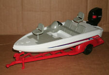 1/18 Scale Fishing Boat Plastic Model - New Ray Watercraft Toy Diorama Accessory