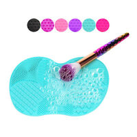 1Pcs Silicone Makeup Brush Cleaner Pad Washing Scrubber Board Cleaning Mat Tool