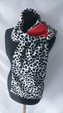 cruella de ville shawl dalmatian scarf shawl wrap handmade uk fancy dress Red