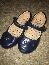 Mothercare Girls Summer Shoes Dark Blue Size 8