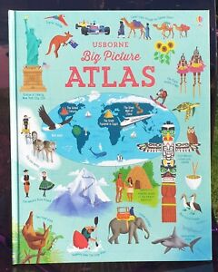 Usborne Big Picture Atlas - Children's Kids - Hardcover NEW